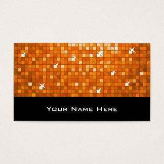 Disco deckt orange Visitenkarteschwarzes mit Visitenkarte