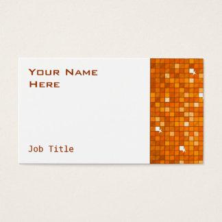 Disco deckt orange Visitenkarteseitenschwarzes mit Visitenkarte