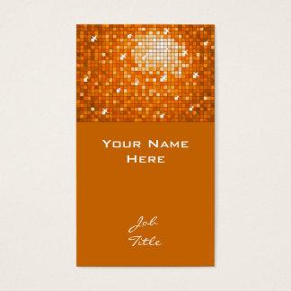 Disco deckt orange Visitenkartespitze mit Ziegeln Visitenkarte