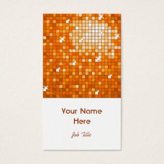 Disco deckt orange Visitenkarteweißporträt mit Visitenkarte