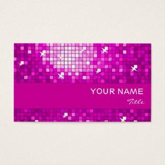 Disco deckt rosa Visitenkarterosastreifen mit Visitenkarte