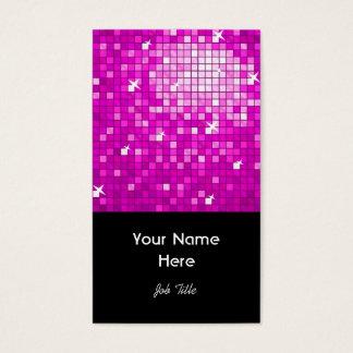 Disco deckt rosa Visitenkarteschwarzporträt mit Visitenkarte