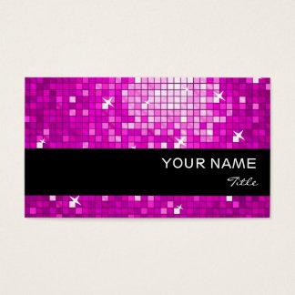 Disco deckt rosa Visitenkarteschwarzstreifen mit Visitenkarte