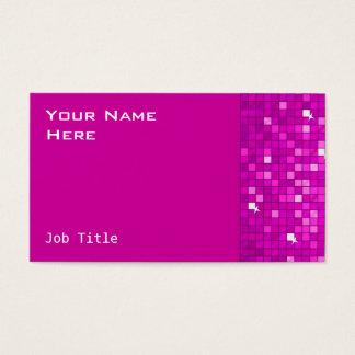 Disco deckt rosa Visitenkarteseite mit Ziegeln Visitenkarte