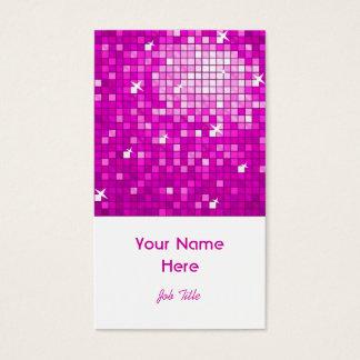 Disco deckt rosa Visitenkarteweißporträt mit Visitenkarte