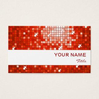 Disco deckt roten Visitenkarteweißstreifen mit Visitenkarte