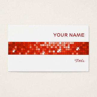 Disco deckt rotes Fliesenstreifenweiß mit Ziegeln Visitenkarte