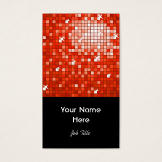 Disco deckt rotes Visitenkarteschwarzporträt mit Visitenkarte