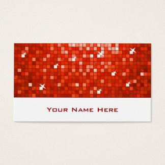 Disco deckt rotes Visitenkarteweiß mit Ziegeln Visitenkarte