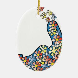 Dislike Power Ovales Keramik Ornament