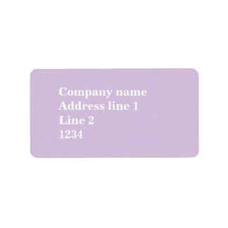 Distel lila adressaufkleber