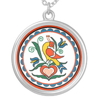Distlefink (orange) - Halskette