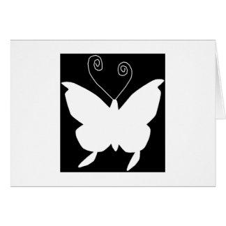 Diva-Schmetterling Grußkarte
