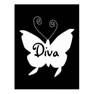 Diva-Schmetterling I Postkarte
