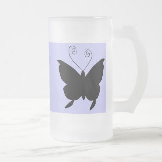 Diva-Schmetterling Matte Glastasse
