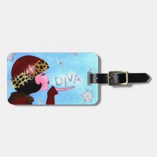 Diva-und Schnee-Glitzern *Personalize Kofferanhänger