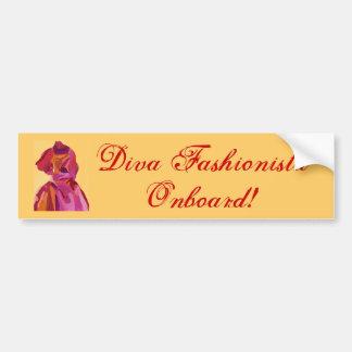 Divafashionista-Herbst-Rottöne Auto Sticker