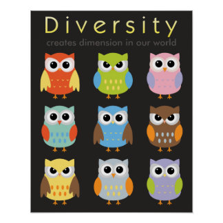 Diversity-Plakate für Kinder Poster