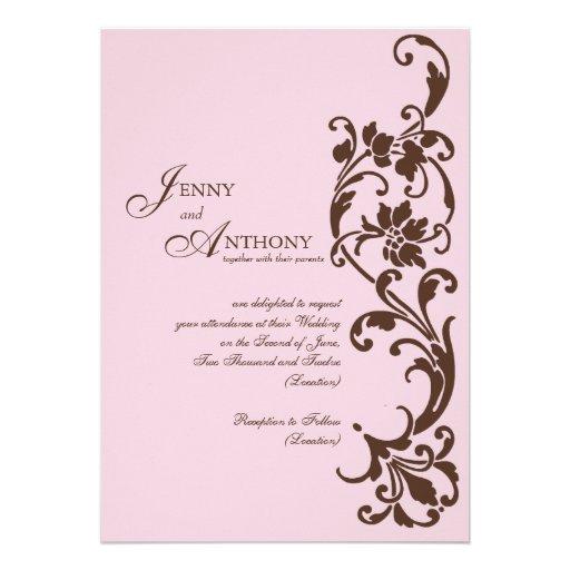 DIY elegante Einfachheit im Rosa und in der Schoko Ankündigung