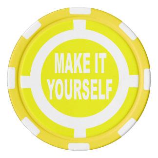 DIY machen es sich Gelb und Weiß Pokerchips
