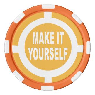 DIY machen es sich orange und weiß Poker Chips