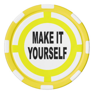 DIY machen es sich weiß und gelb Pokerchips