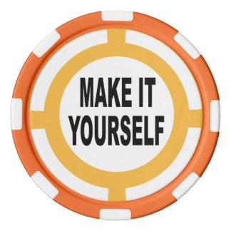 DIY machen es sich weiß und orange Poker Chips Set