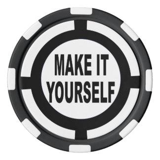 DIY machen es sich weiß und schwarz Poker Chips Set