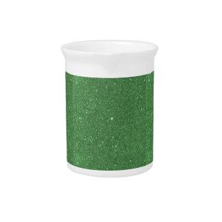 DIY Schablonen-Smaragdbeschaffenheit addieren Krug