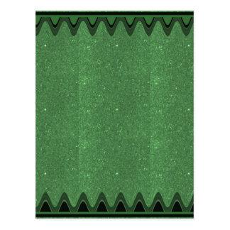 DIY Schablonen-Smaragdbeschaffenheit addieren Postkarte