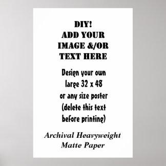 DIY Sondergröße-archivalisches Schwergewichts- Poster