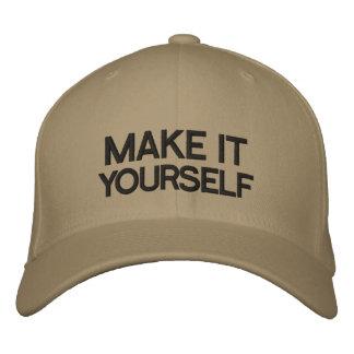 DIY stellen es sich gestickten Hut her Baseballmütze