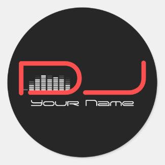 DJ-Aufkleber Runder Aufkleber