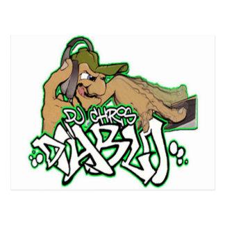 DJ CHRIS DIABLO - DJ-LOGO 3 POSTKARTE