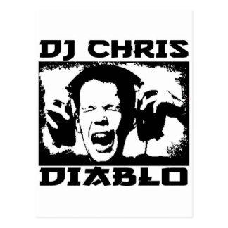 DJ CHRIS DIABLO - LOUD GENUG POSTKARTE