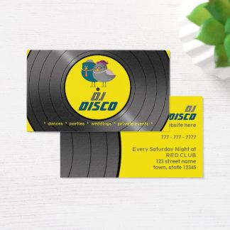 DJ-Disco-Musik-Retro Visitenkarte