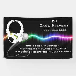 DJ-Mikrofon-Kopfhörer-Fahne Banner