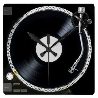 DJ-Turntable Wand-Uhr Uhr