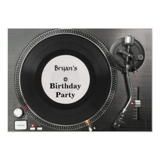 DJ-Turntablegeburtstag Einladung