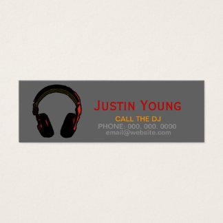 djs/Diskjockeys/elektronische Musik Mini Visitenkarte