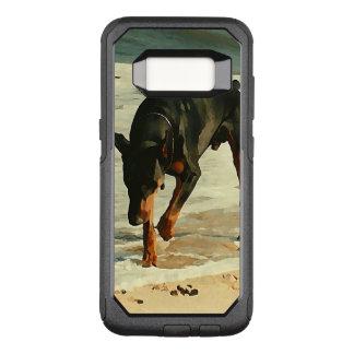 Dobermann am Strand-Malerei-Bild OtterBox Commuter Samsung Galaxy S8 Hülle