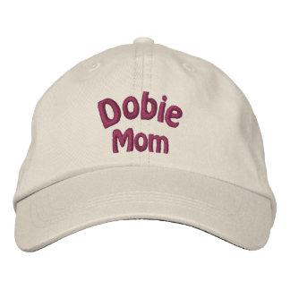 Dobermann-Mamma-Dobermann gestickte Kappe Bestickte Baseballkappe