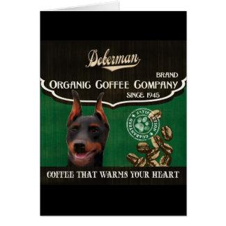 Dobermann-Marke - Organic Coffee Company Karte