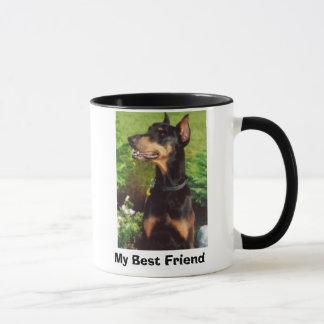 Dobermann, mein bester Freund Tasse
