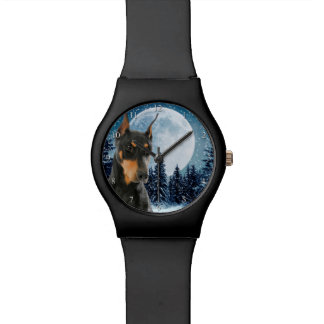 Dobermann-Uhr Uhr