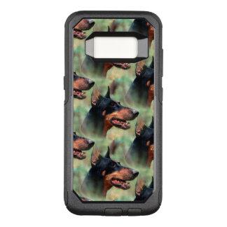 DobermannPinscher im Holz OtterBox Commuter Samsung Galaxy S8 Hülle