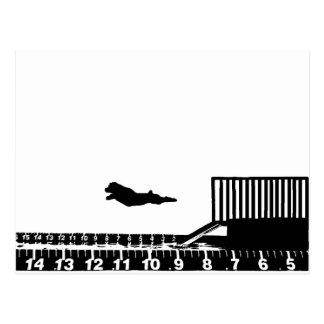 Dock-Springen Postkarte
