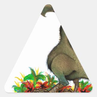 Dodo die Liebe der tony fernandess Dreieckiger Aufkleber