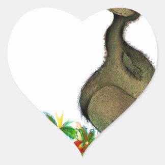 Dodo die Liebe der tony fernandess Herz-Aufkleber
