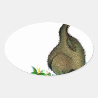 Dodo die Liebe der tony fernandess Ovaler Aufkleber